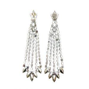 Vintage Crystal Chandelier Earrings
