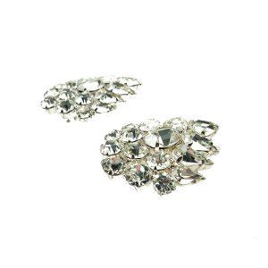 Vintage Crystal Cluster Earrings