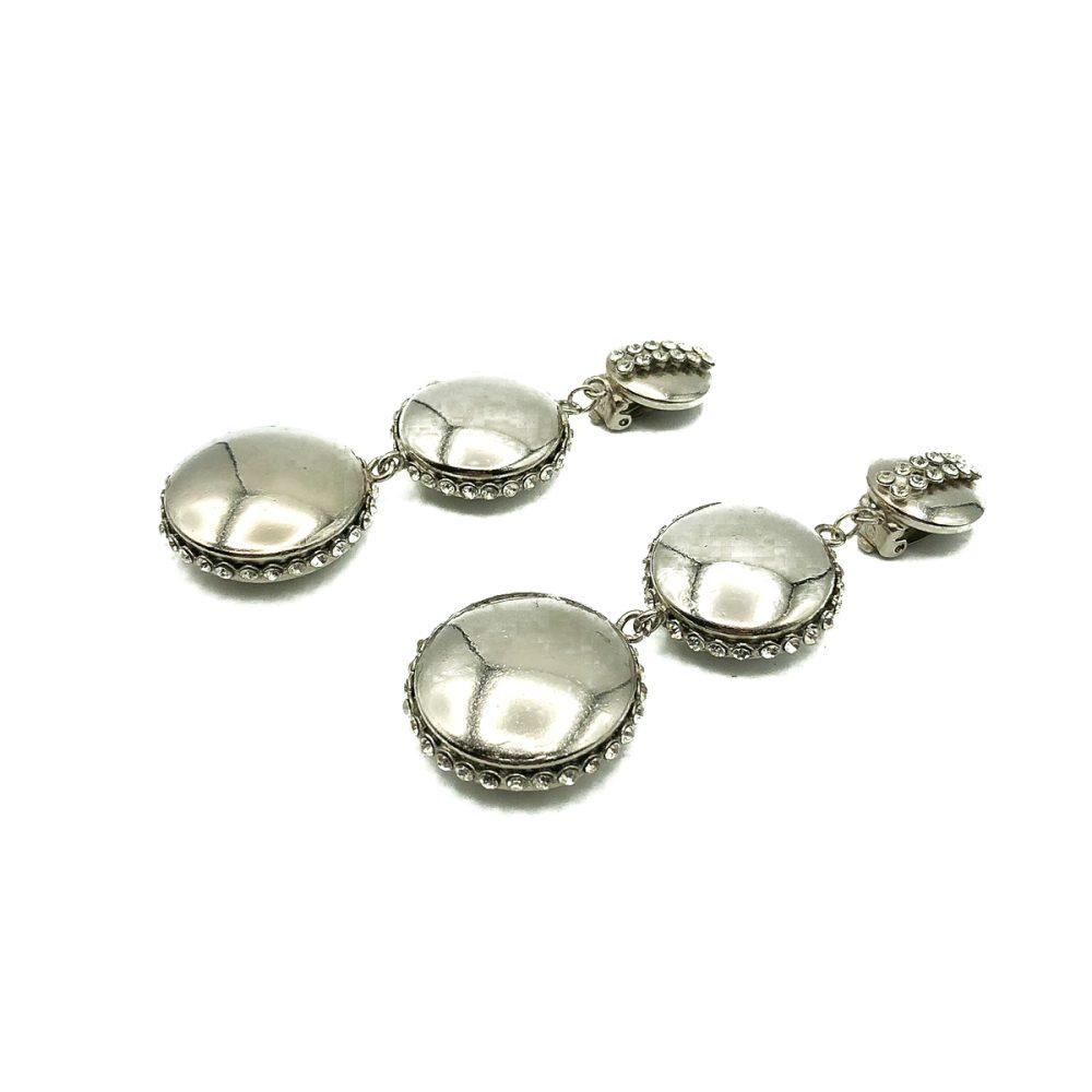Vintage Monochrome Button Earrings