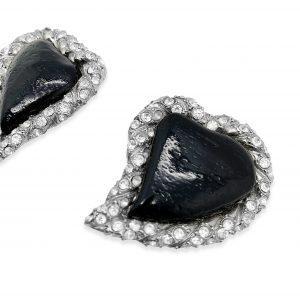 Vintage YSL Heart Earrings