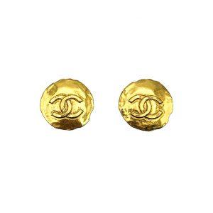 Vintage Chanel CC Logo Coin Earrings