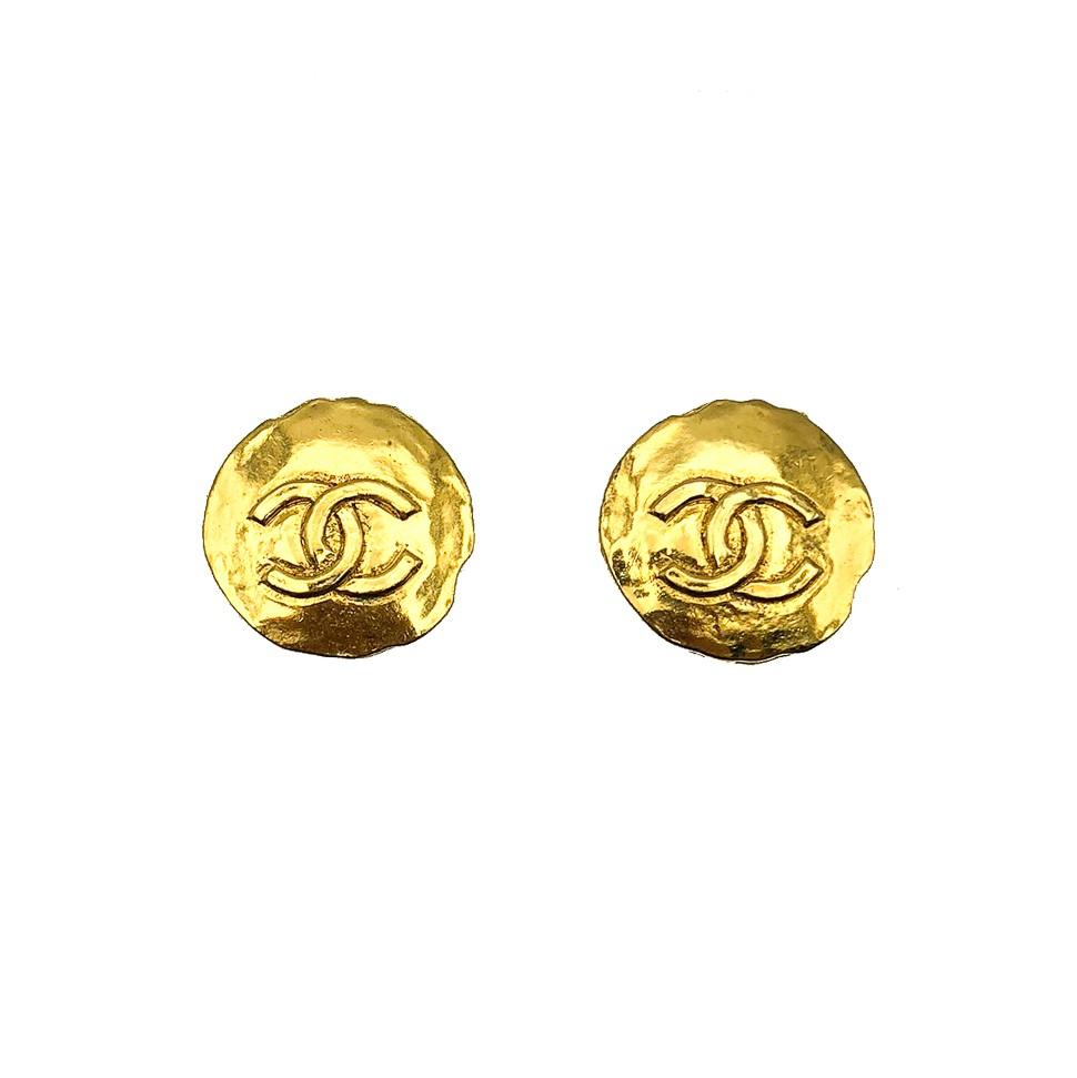 Vintage CC Logo Coin Earrings