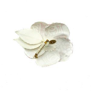 Vintage Chanel Logo Camellia Brooch