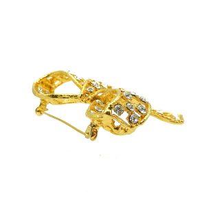 Vintage Crystal Bow Brooch