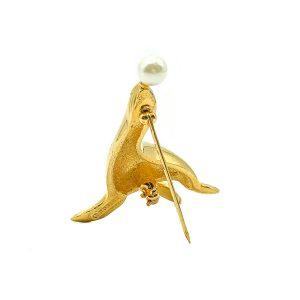 Vintage D'Orlan Sea Lion Brooch