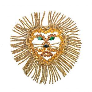 Vintage Dominique Lion Brooch