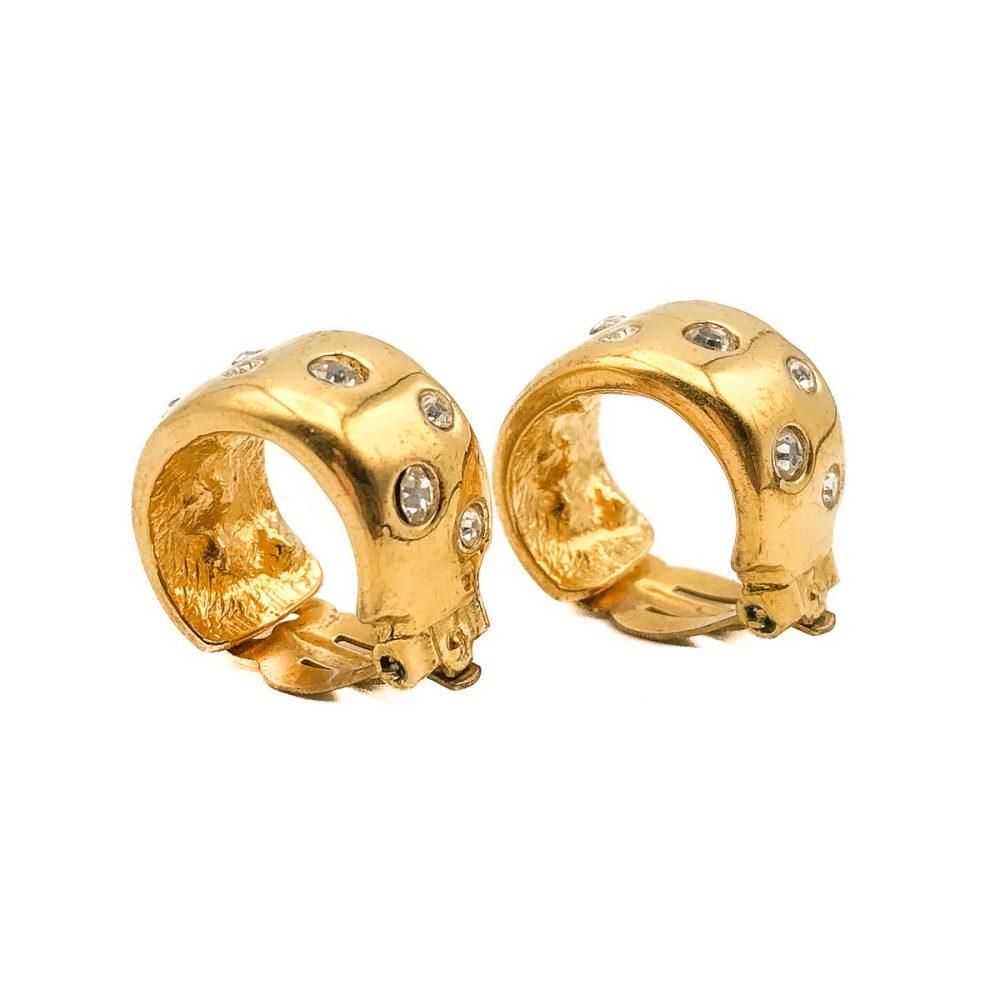 Vintage YSL Hoop Earrings
