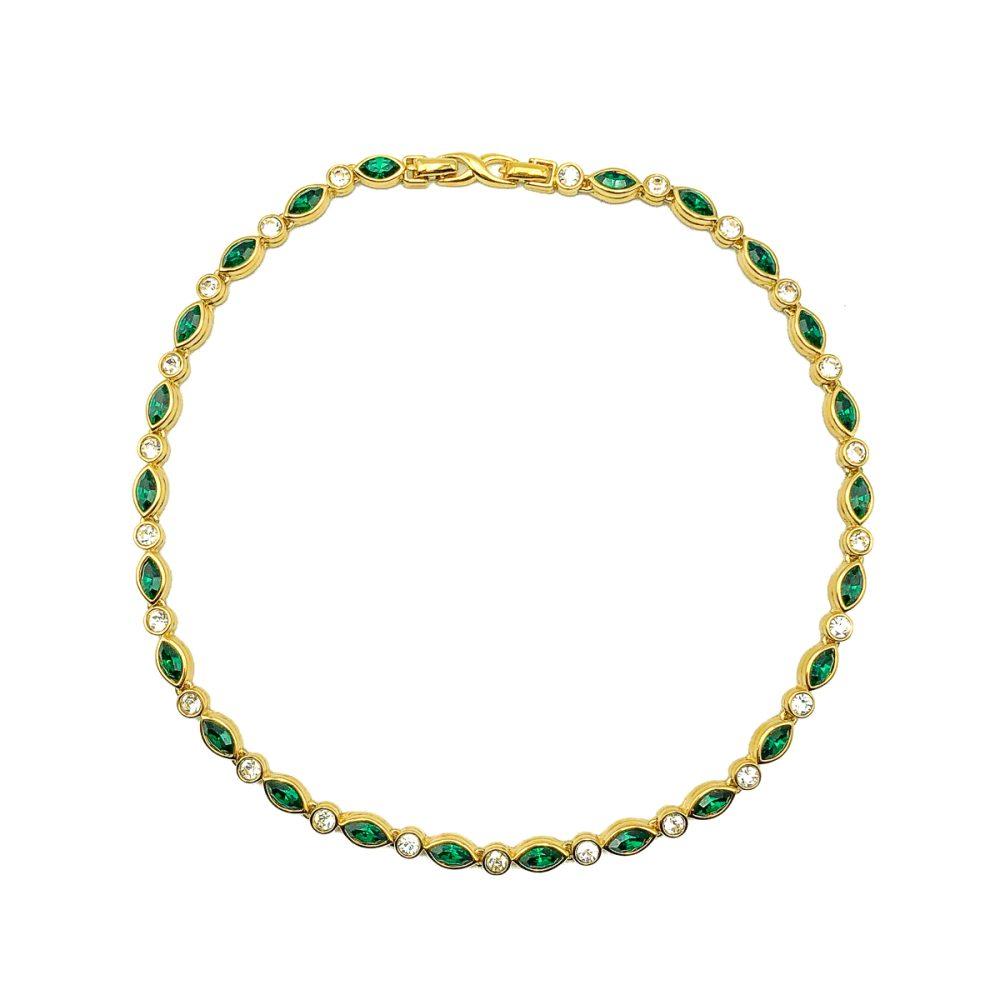 Vintage Dorlan Emerald Necklace