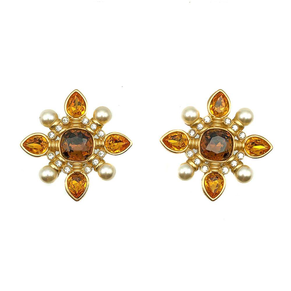 Vintage Swarovski Crucifrom Earrings