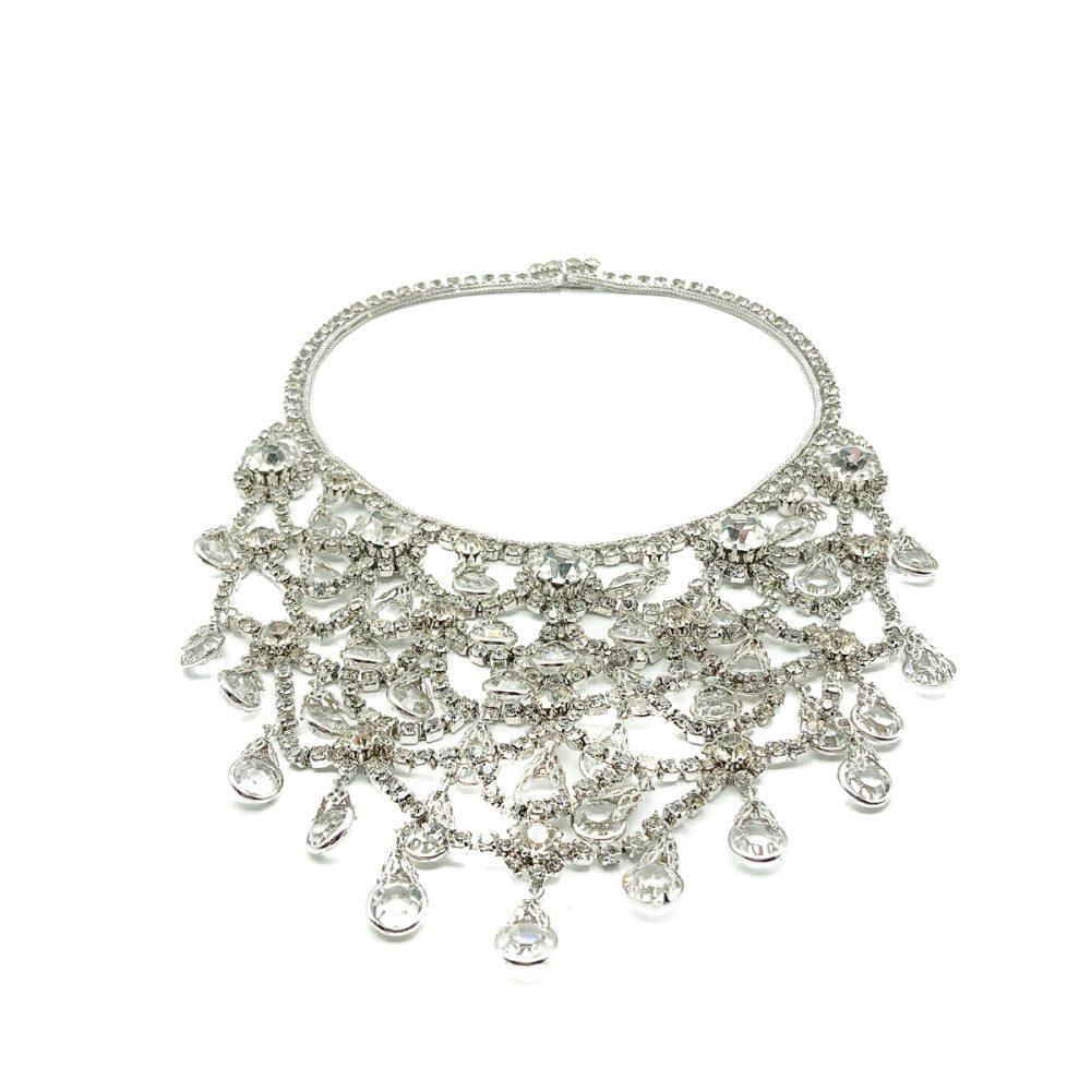 Vintage Crystal Festoon Necklace